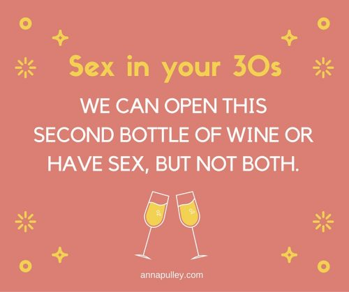 Sex in your 30s